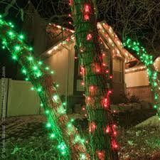 100 Outdoor Christmas Decorations Ideas To Make Use by Wrapping Trees With Christmas Lights