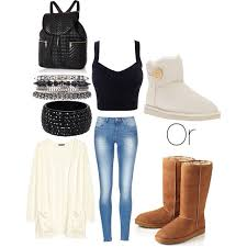 Polyvore Cute Winter Outfits For School