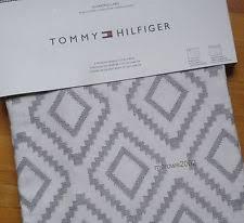 tommy hilfiger gray alloy cabana stripe rod pocket curtains 2
