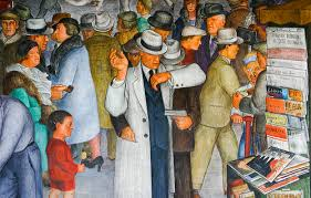 diego rivera mural art at coit tower san francisco a gallery on