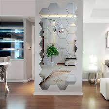 diy spiegel wandaufkleber abnehmbar acryl wand zimmer dekor