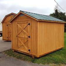 6x8 Wooden Storage Shed by Painted Or Stained Wood Storage Sheds Leonard Buildings U0026 Truck