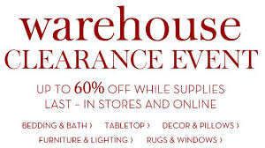 pottery barn clearance event