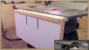 make a table saw out feed table youtube