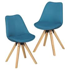 2er set retro esszimmerstuhl lima petrol polsterstuhl stoff bezug rückenlehne design küchen stuhl gepolstert