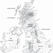 Figure 12 Map Of Britain And Ireland Showing Principal Regions Mentioned In The Text