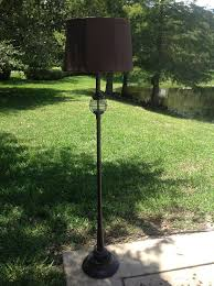 Kenroy Home Hatteras Outdoor Floor Lamp Floor Lamp Chocolate