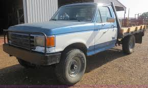 100 Mcatee Truck Sales 1988 Ford F250 Flatbed Truck Item D2127 SOLD September