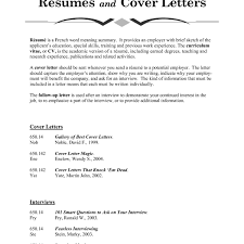 What Should Be In A Resume Cover Letter Examples Free Business