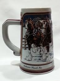 Steins Christmas Trees by Budweiser Beer Steins Vintage 1989 Budweiser Clydesdale Beer Mug