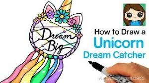 How To Draw A Unicorn Dream Catcher