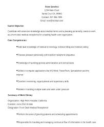 General Resume Objective Examples Receptionist With Photo Album For Website Ctive Produce