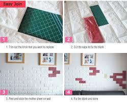 3d Peel Stick Wallpaper Brick Design 10 Sheets 58 SqFt
