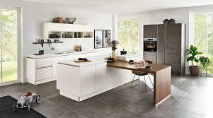 offene inselküche softlack nolte küchen mit front in matt magnolia