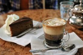 kaffee and kuchen in a viennese kaffeehaus austria