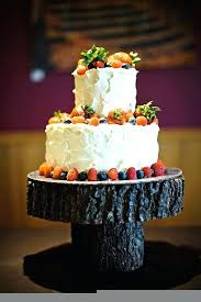 Rustic Wood Cake Stand Best Stands Images On Cupcake 8 Oak Tree Trunk Slice Wedding Home