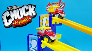 99 Chuck The Talking Truck Tonka Friends Tower Racing Speedway Playset