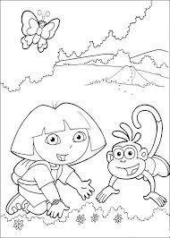 Dora The Explorer Coloring Pages Kids