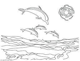 Dolphins Printable Pictures Dolphin Coloring Pages Print Miami To Colour And Full Size