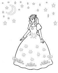Princess Dress Coloring Pages