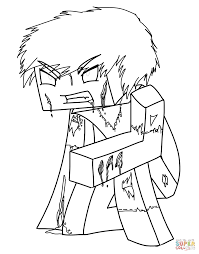Click The Minecraft Herobrine Coloring Pages