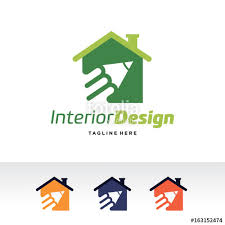 Interior Design Logo Template Vector Emblem Concept Creative Symbol Icon