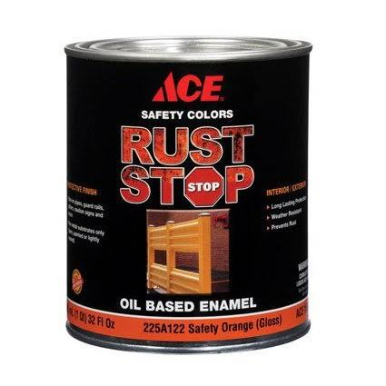 Ace Rust Stop Oil Based Enamel - 225A122 Safety Orange