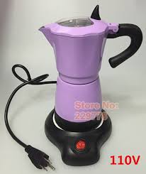 New Fashion Romantic Purple Marca Yellow Dragon Aluminum Electic Stovetop Coffee Maker Mocha Pot