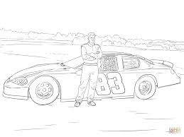 Dale Earnhardt Jr With His Car Coloring Book