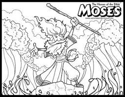 The Heroes Of Bible Coloring Pages Moses And Parting Red Sea