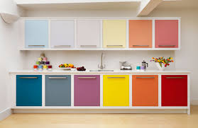 Colorful Kitchen Cabinet Design Ideas Charming Wall