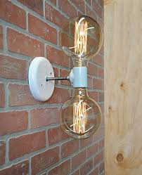 light wall sconce industrial wall l with edison bulbs