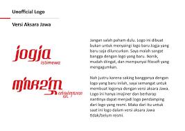 Logo Baru Jogja Unofficial Konsep 1