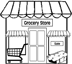 Restaurant Building Simple Coloring Page