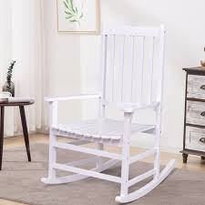 Giantex Solid Wood Rocking Chair Rocker Porch Indoor Outdoor ... Whosale Rocking Chairs Living Room Fniture Set Of 2 Wood Chair Porch Rocker Indoor Outdoor Hcom Traditional Slat For Patio White Modern Interesting Large With Cushion Festnight Stille Scdinavian Designs Lovely For Nursery Home Antique Box Tv In Living Room Of Wooden House With Rattan Rocking Wooden Chair Next To Table Interior Make Outside Ideas Regarding Deck Garden Backyard