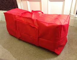 Image Of Artificial Christmas Tree Storage Box Red Bag