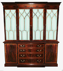 ethan allen english georgian regency breakfront bookcase display