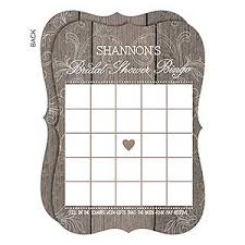 Buy Personalized Bingo Cards Perfect For A Rustic Bridal Shower And Add Any Name Free Personalization Fast Shipping