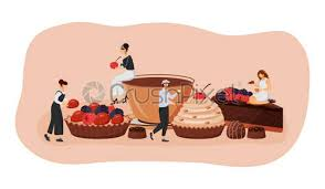 kaffee und kuchen vektor illustration heiße