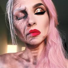 Halloween Half Mask Makeup by Half Old Lady Half Young Lady Halloween Pinterest Sfx Makeup