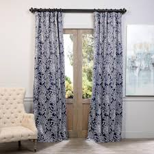 108 Inch Navy Blackout Curtains by Exclusive Fabrics U0026 Furnishings Semi Opaque Dragonfly Teal