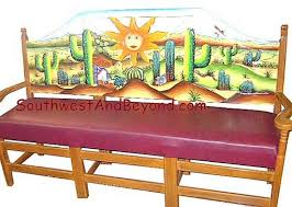 Hand Painted Mexican Benches