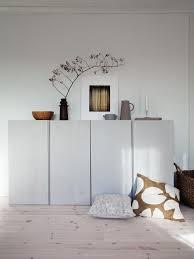 wohnzimmer sideboard schrank stauraum ikea ivar hack