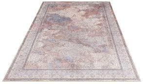 teppich orson delavita rechteckig höhe 6 mm druckteppich mit bordüre wohnzimmer kaufen otto