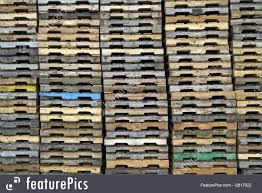 Tools And Supplies Wood Pallets Background In Cargo Shipping Dock