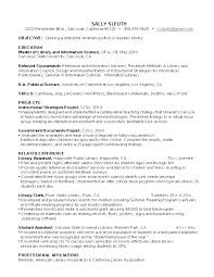 Librarian Resume Sample Resumes Reference Header Templates Federal Job Template Public