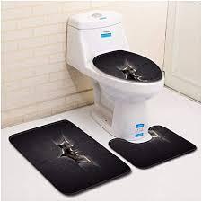 hongyuanzhang schwarzer fledermaus toiletten boden matte