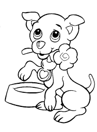 Valentines Day Print Valentine Free Printable Coloring Pages Of Cute Puppies