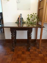 Antique Dining Table Set + 8 Chairs + 2 Extension Tables ...