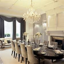 Fancy Dining Room Drapes Fire Place Table For The Home Pinterest Elegant Style